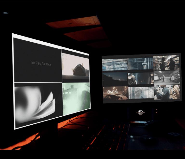 Flex Point Security digital surveillance/CCTV security set up at a client's site