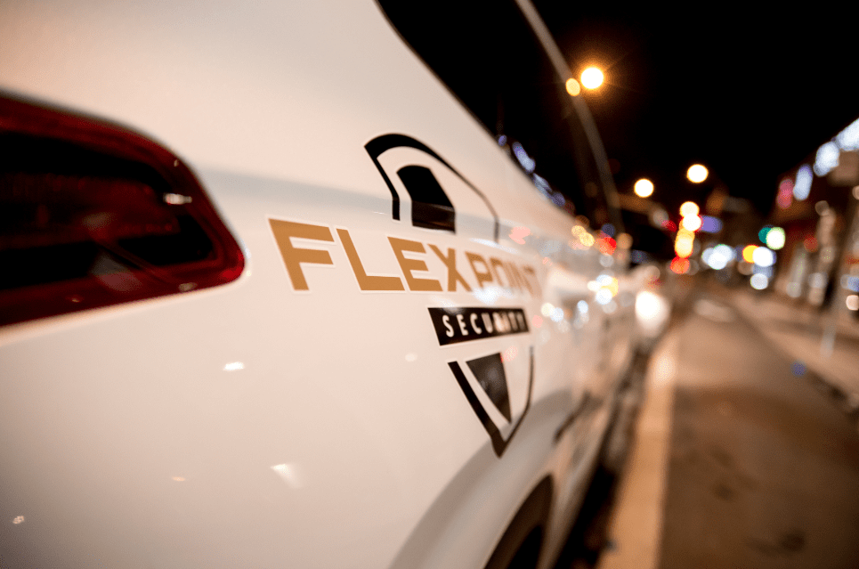 Flex Point Security company vehicle used to provide mobile patrol security services in the Greater Toronto Area