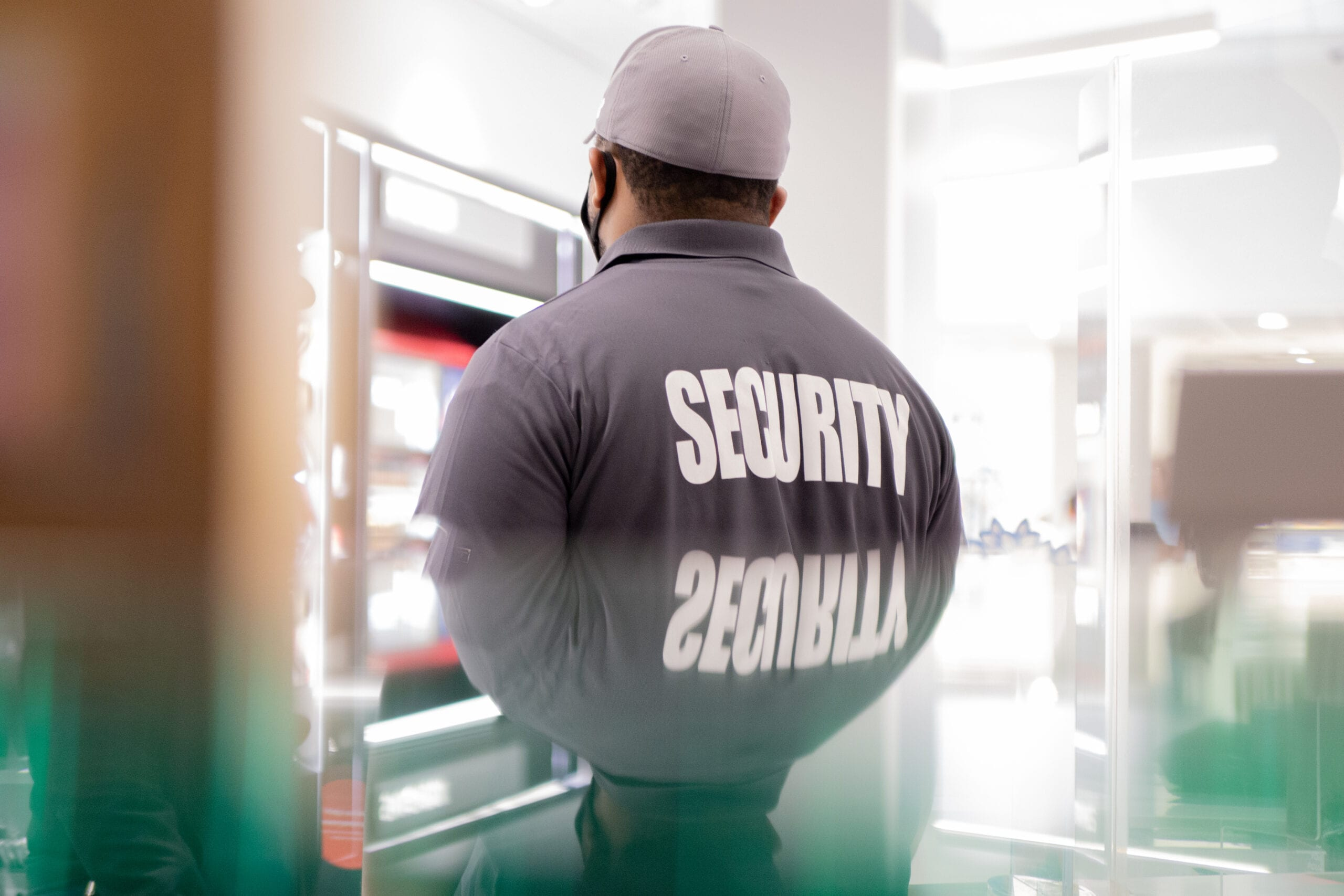 Flex Point Security guard providing loss prevention security services in Ontario